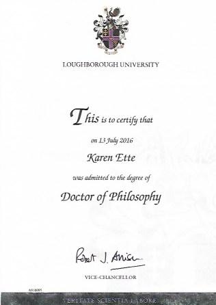 PhD Certificate